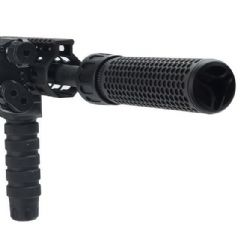QDC 556 Airsoft Suppressor 180mm long with M4 Flash Hider